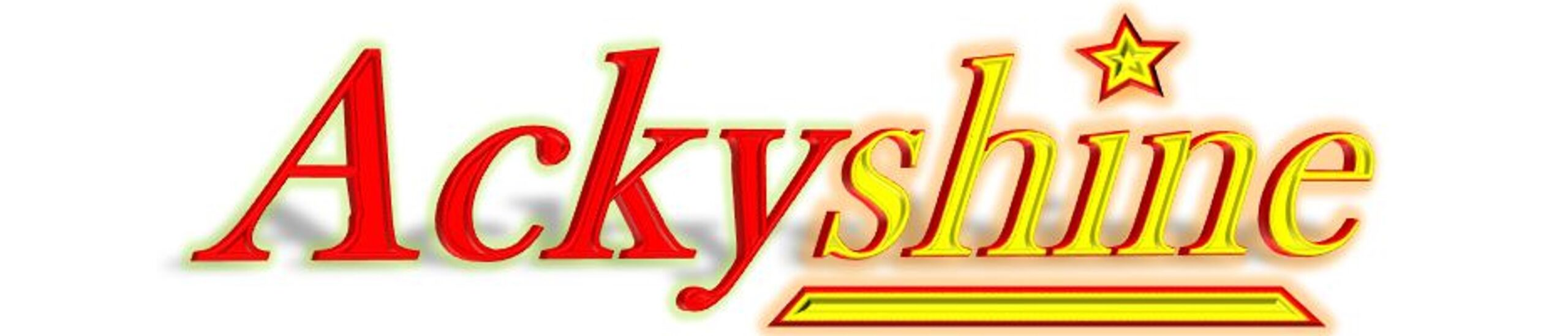 Ackyshine Website bar