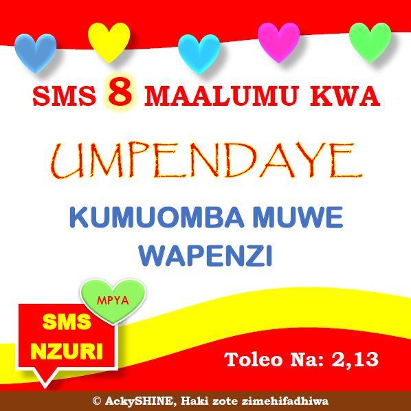 SMS Nzuri Tamu za Kuomba muwe Wapenzi